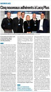 Article République des Pyrénées 5 nouveaux adhérents Lacq Plus