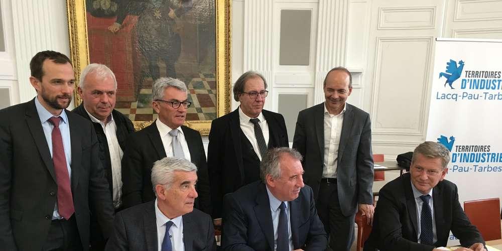 Le protocole d'accord Territoire d'industrie Lacq-Pau-Tarbes signé