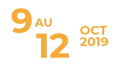 9 au 12 octobre 2019